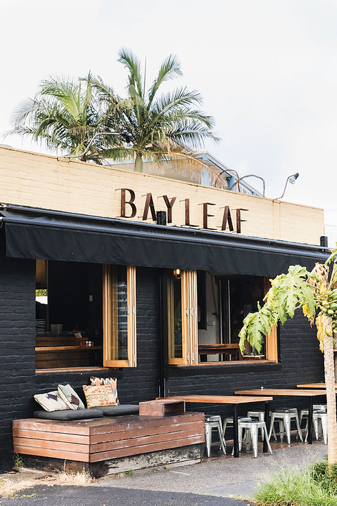 Bay leaf cafe hospitality fit out byon bay