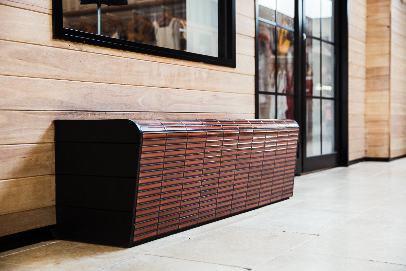 Feros Arcade Byron Bay | Timber seating | Commercial Design | whitewood agency | Interior Design