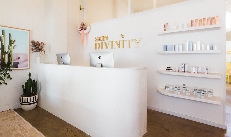 Skin Divinity cosmetic clinic byron bay reception | whitewood agency | Interior Design