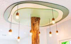 kids clinic indoor tree lighting