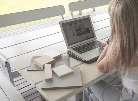 There is no barrier to working remotely with an interior designer