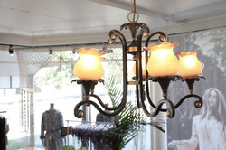 italian antique chandelier Dreamers & Drifters retail boutique retail fit interior design byron bay