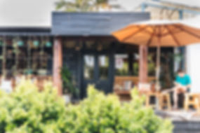 Bay leaf cafe hospitality fit out byon bay outdoor