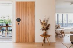 Timber Front Door | Belongil House Byron Bay | Interior Design