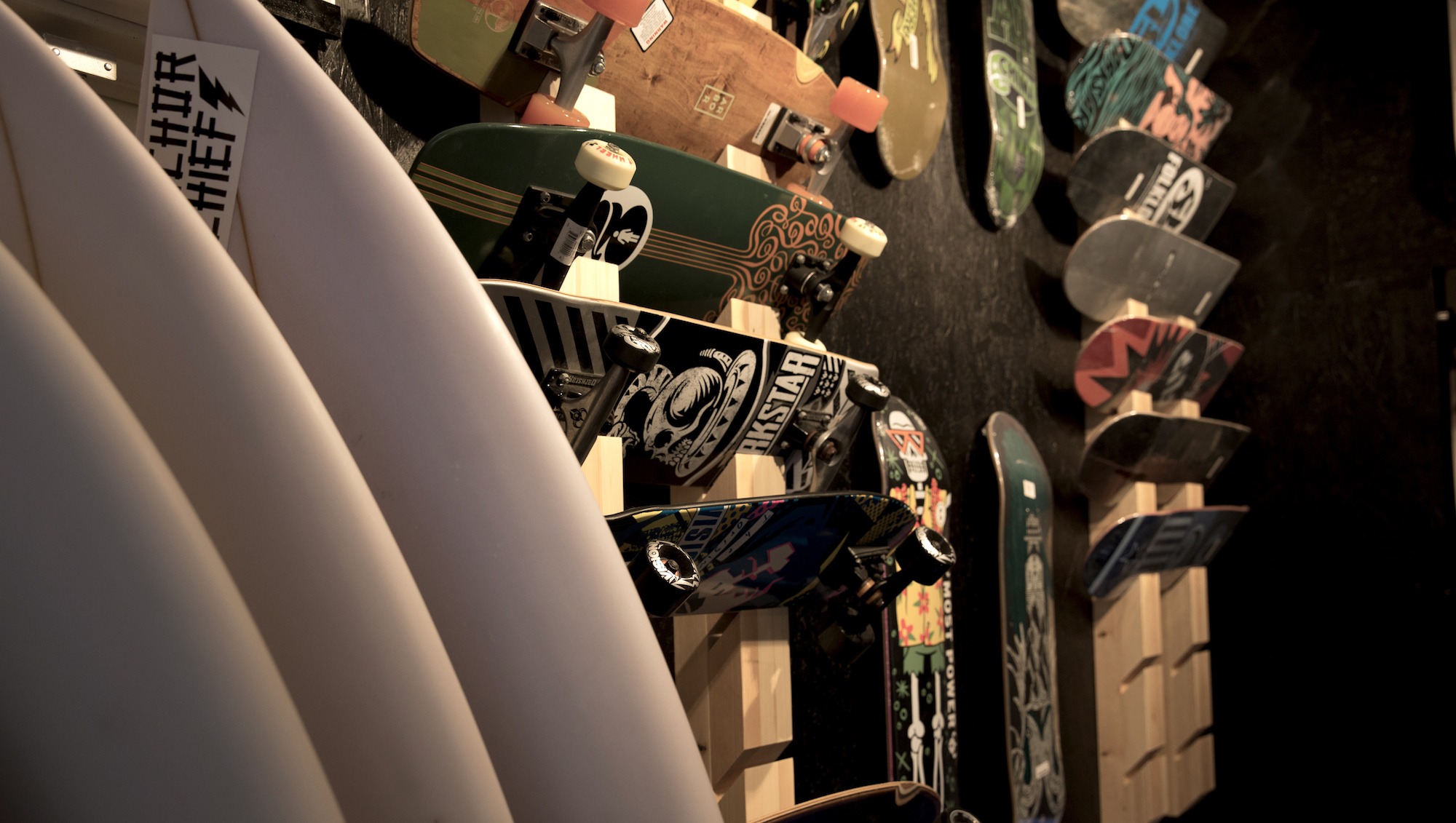 Anchor chief retail fitout lennox head skateboard rack
