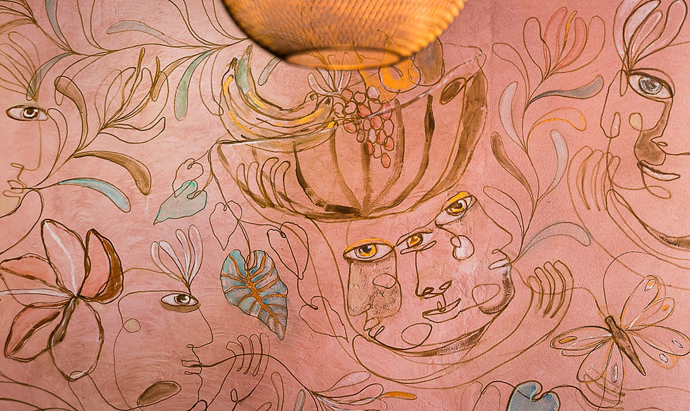 Brian Connolly Mural | Supernatural Restaurant | whitewood agency | byron bay bar | bar design