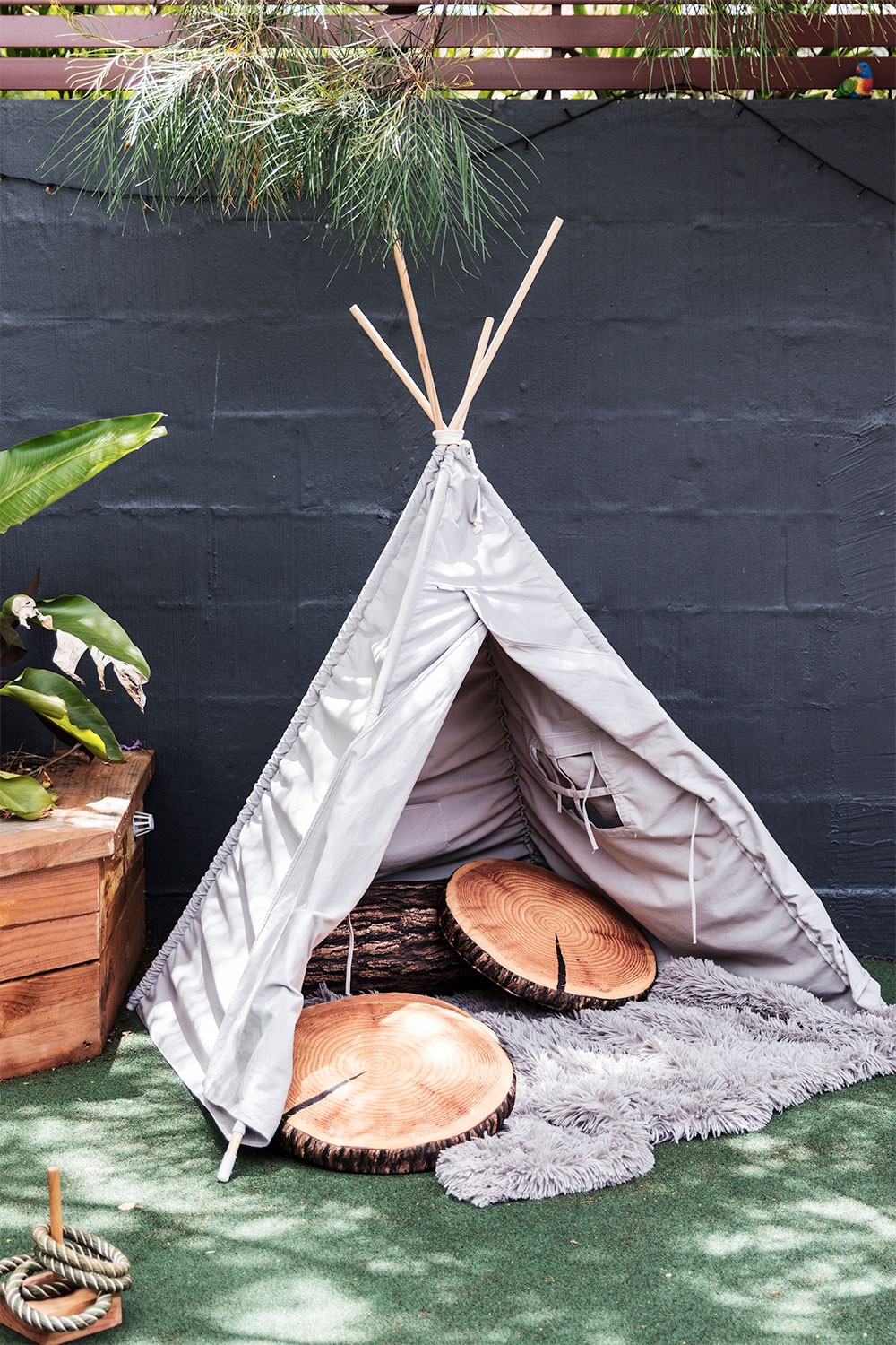 kids clinic outdoor teepee