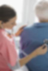 Accueil Infirmière examen des patients