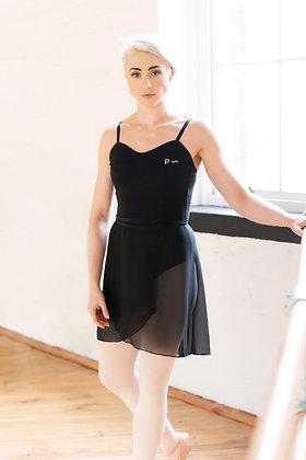 Black Voile Ballet Wrap Skirt