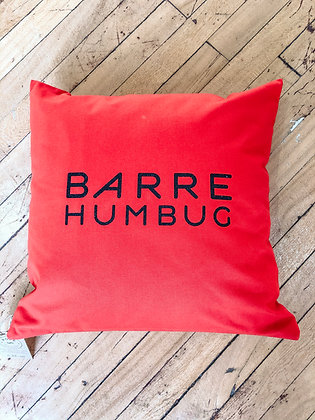 Barre Humbug Red Cushion Cover