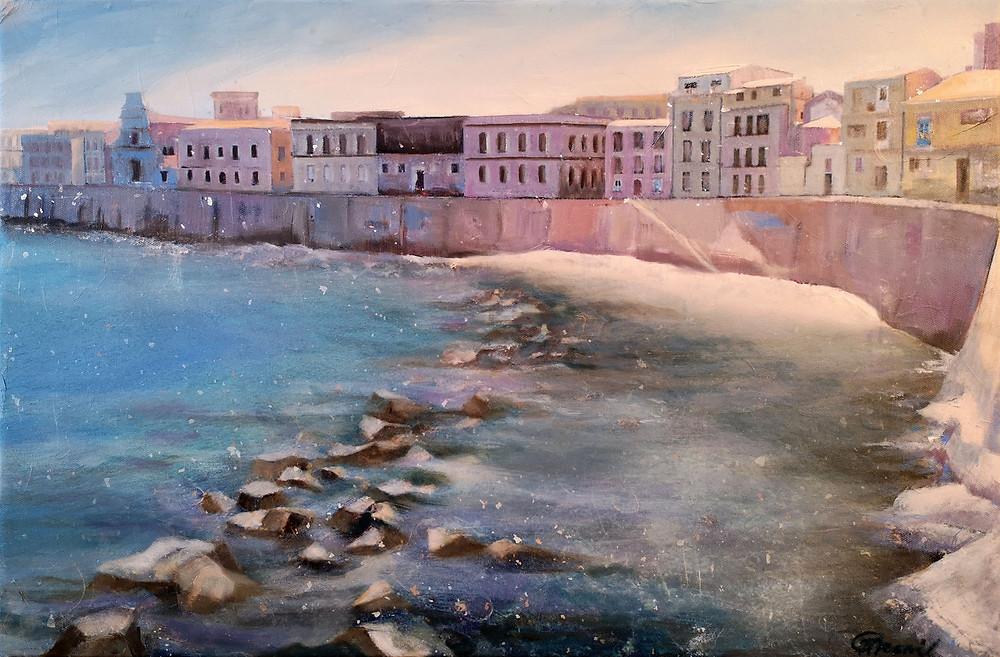 """""""Sogno della Sicilia"""", 2020, oil/canvas, 40x60cm/16""""x21"""""""