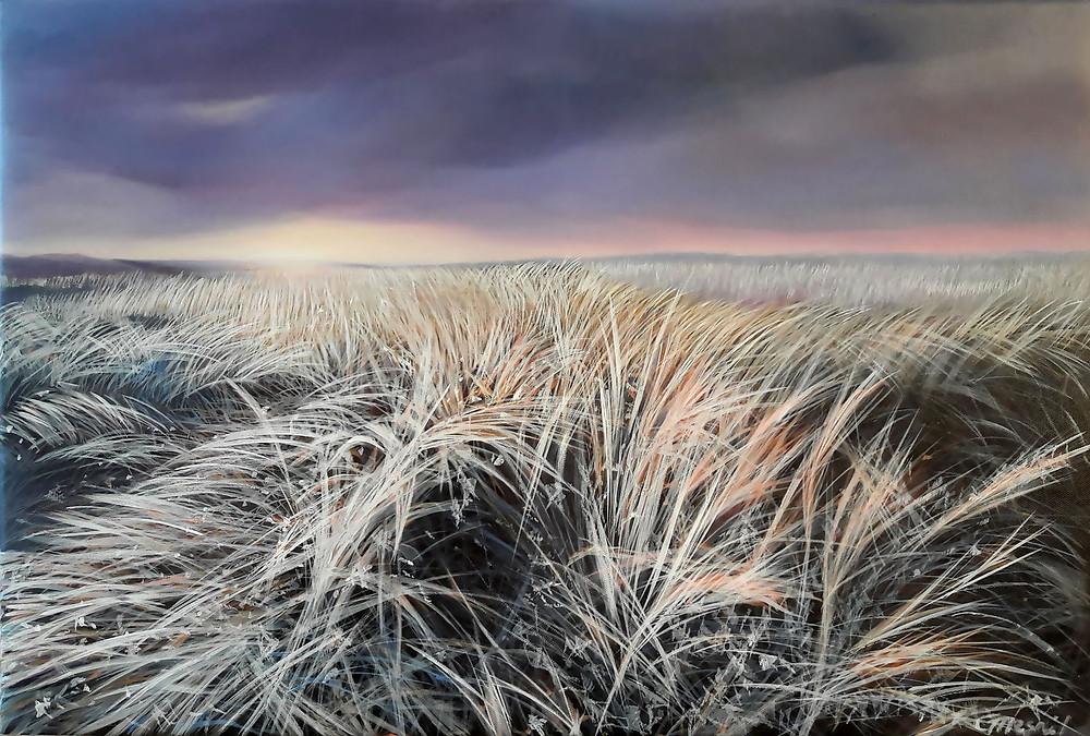 Winter Sun, oil/canvas, 40x60cm/16''x24''
