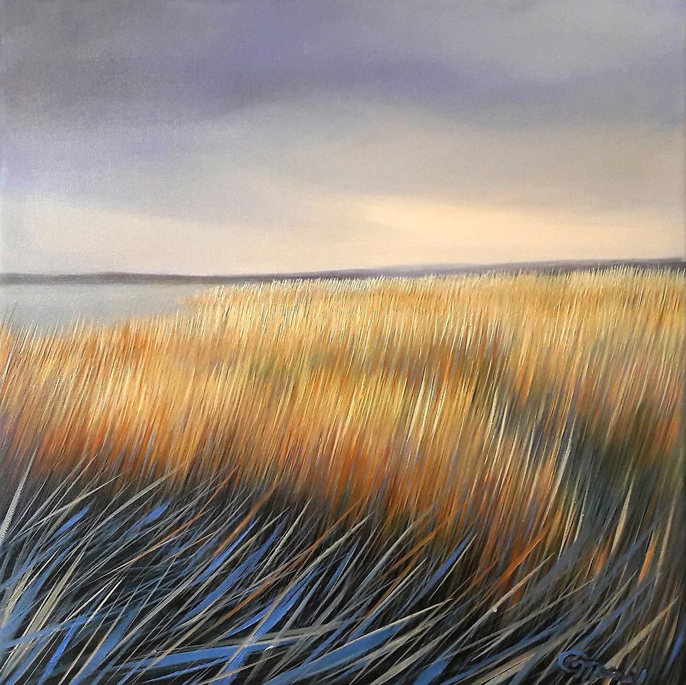 April's Song, oil/canvas, 40x40cm/16''x16''