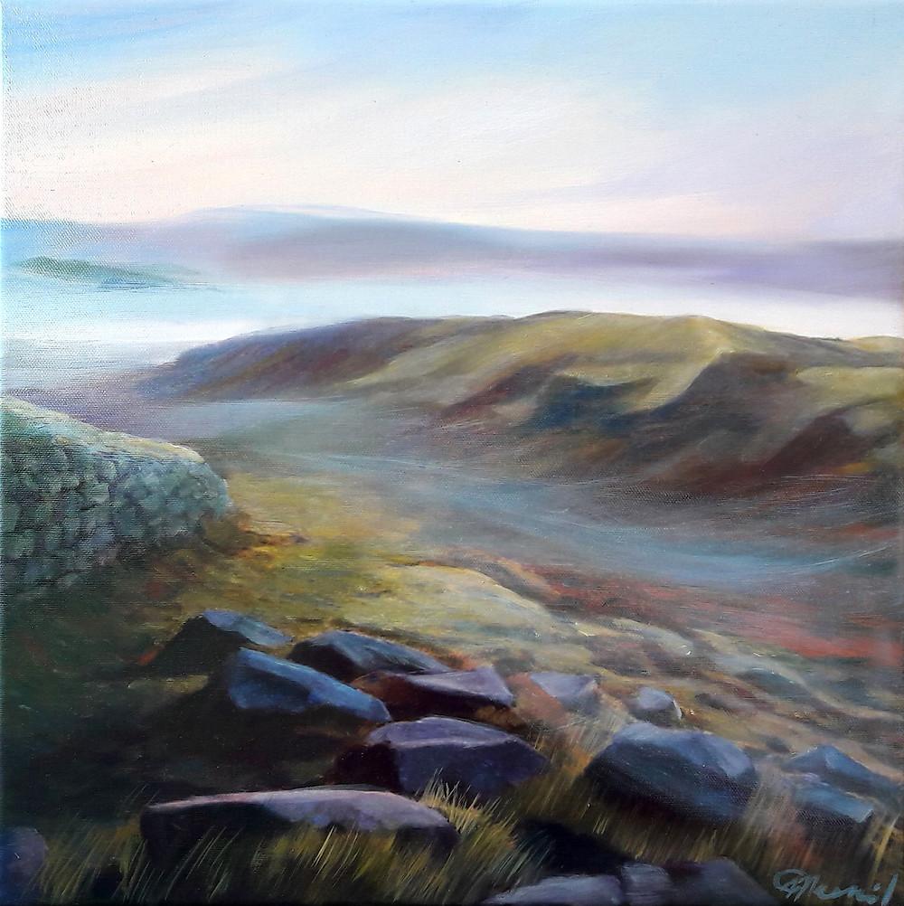 Misty Morning, oil/canvas, 40x40cm/16''x16''