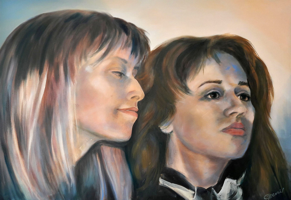 """Dreaming Our Dreams"" (The #sisterhood Project), oil/canvas, 90x130cm"