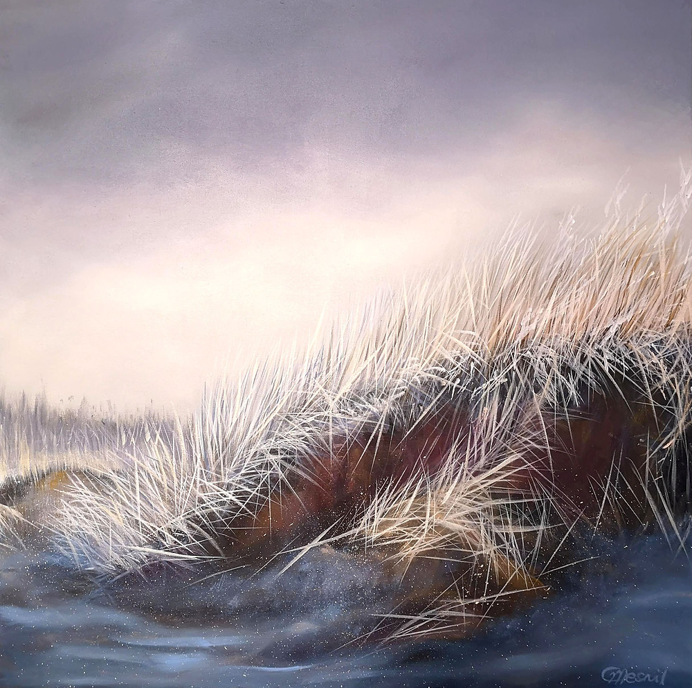 """First Morning Light"", 2020, oil/canvas, 80x80cm/32""x32"""