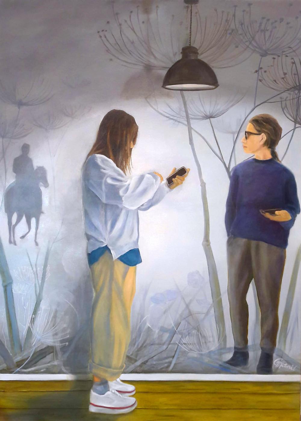 """From Afar"", 2020 , oil/canvas 180x130cm/71""x51"""