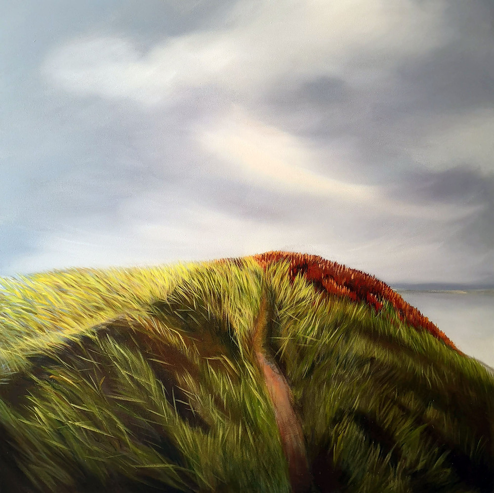 Light On The Hill, oil/canvas, 140x140cm/55''x55''
