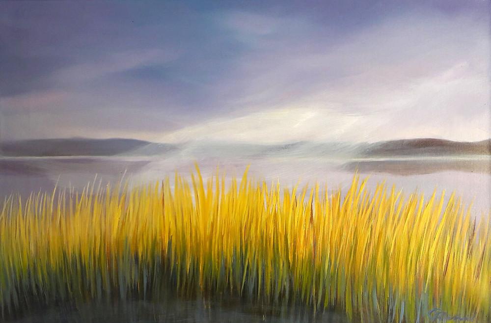 The Morning Calm, oil/canvas, 40x60cm/16''x24''