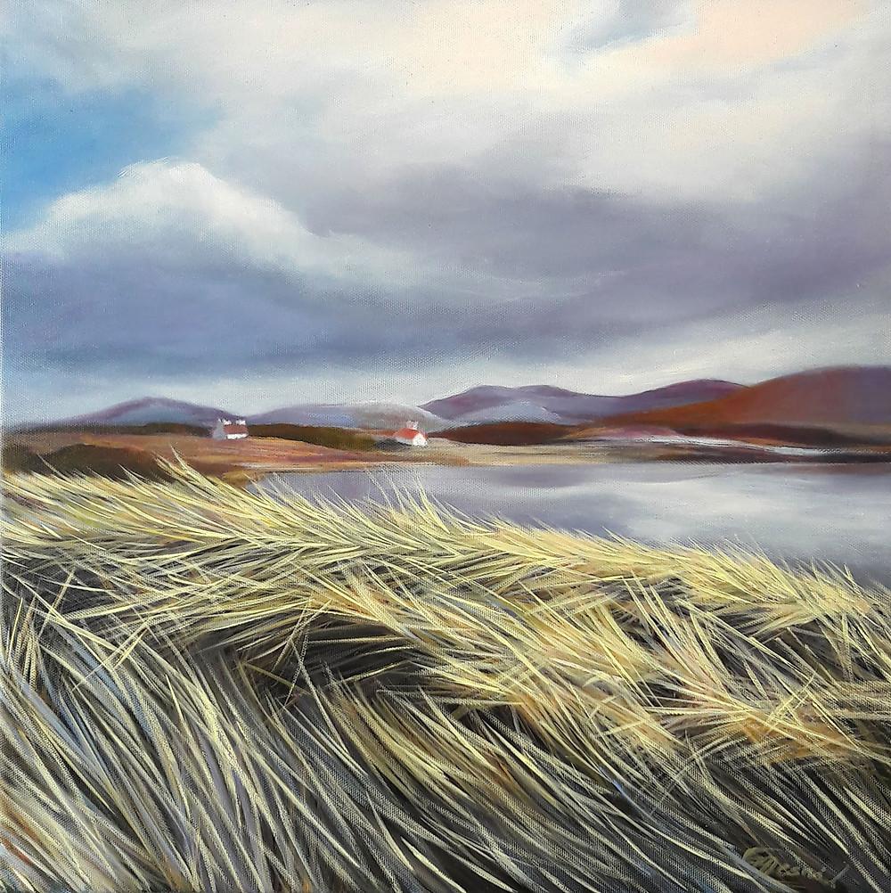 """""""Erris Island"""", oil/canvas, 40x40cm/16""""x16"""""""