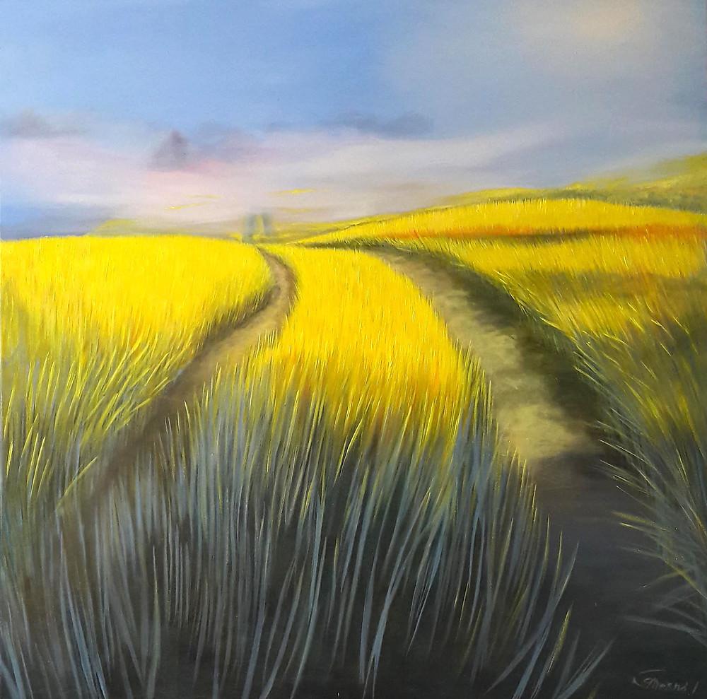Summer Fields, oil/canvas, 140x140cm