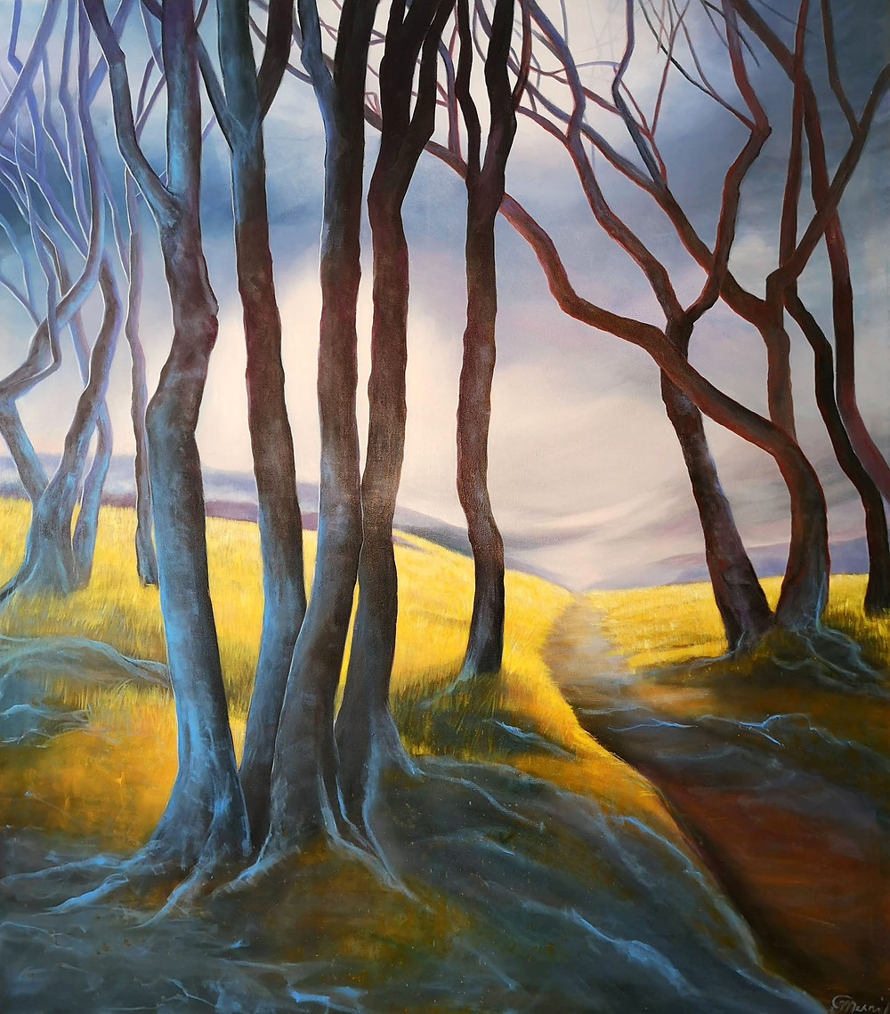 """""""Trails of Summer"""", oil/canvas, 160x140cm/63""""x55"""""""