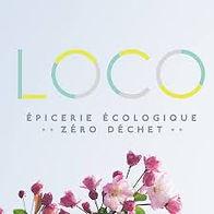 LOCO zero waste grocery store logo