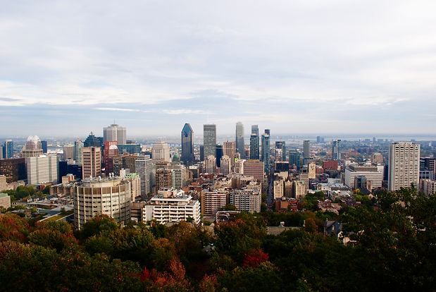 Elevated view of the city of Montreal