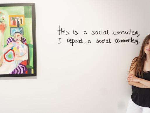 """Η ατομική έκθεση της Βασίλειας Αναξαγόρου με τίτλο """"the Carnivalesque as a social commentary"""""""