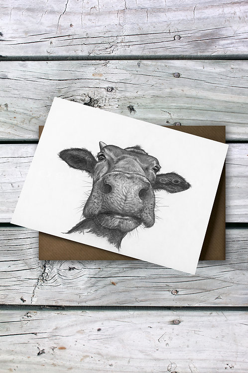 Charismatic Cow Greeting Card