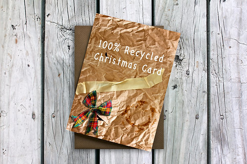100% Recycled Christmas Card