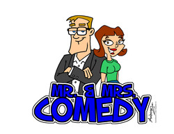Mr & Mrs Comedy Character Design