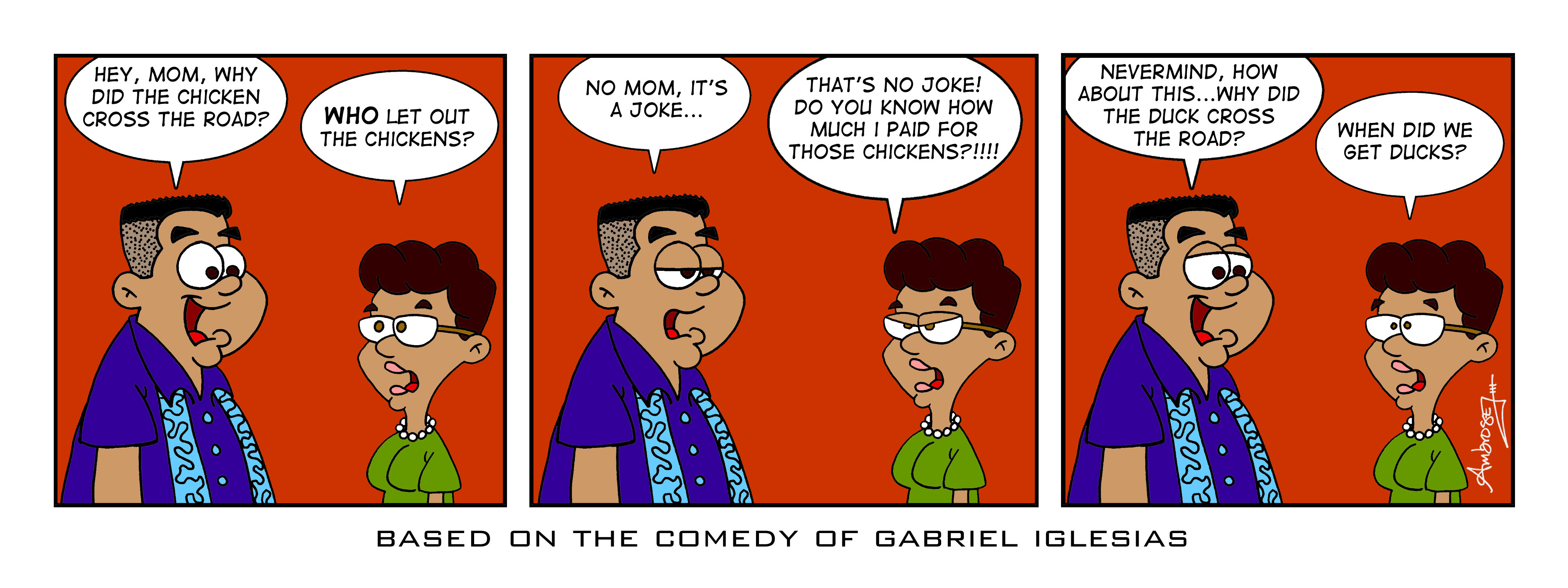Gabriel Iglesias Comic Strip