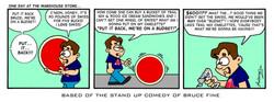 Bruce Fine Comic Strip