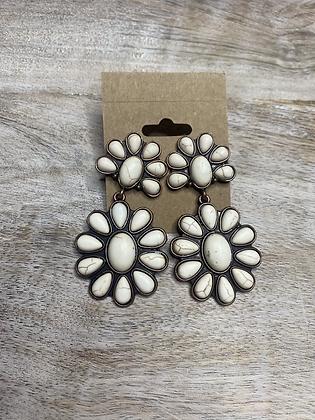 White Chunky Earrings