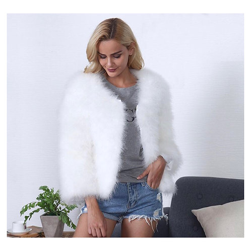 "Angel White ""Turkey Feathers Fur Coat ""SOLDOUT"""
