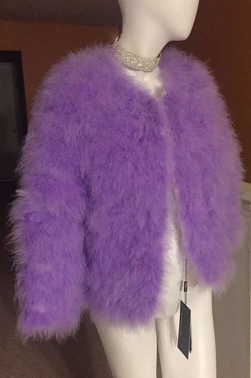 "Purple Turkey Feathers Fur Coat ""SOLDOUT"""