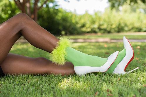 """Green Apple"" Fur Socks"