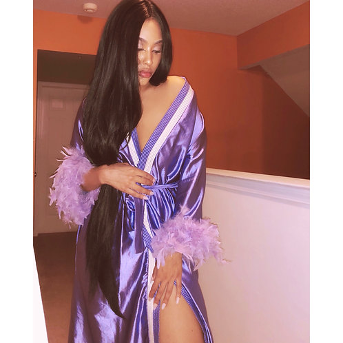 "Purple satin robe ""SOLDOUT"""