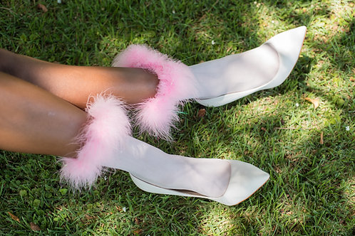 "''Barbie"" Fur Socks"