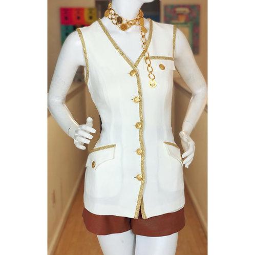 Ann Tjian Cream & Gold Vest