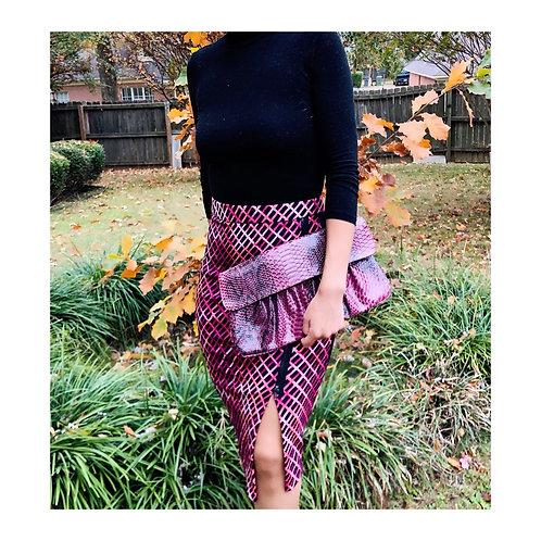 Asymmetrical zip skirt
