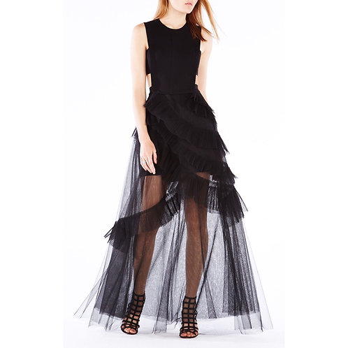 BCBGMAXAZRIA Tulle CutOut Dress