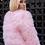 """Thumbnail: Blushing Pink """"Turkey Feathers Fur Coat"""" """"SOLDOUT"""""""