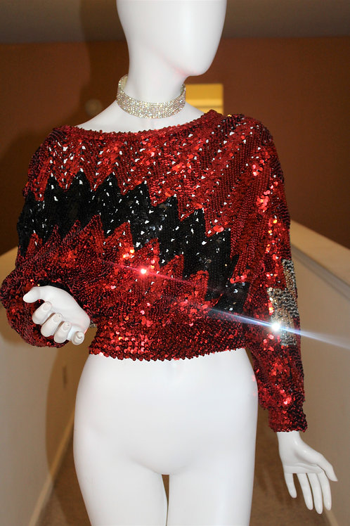 Spaced Out Sequin Sweater