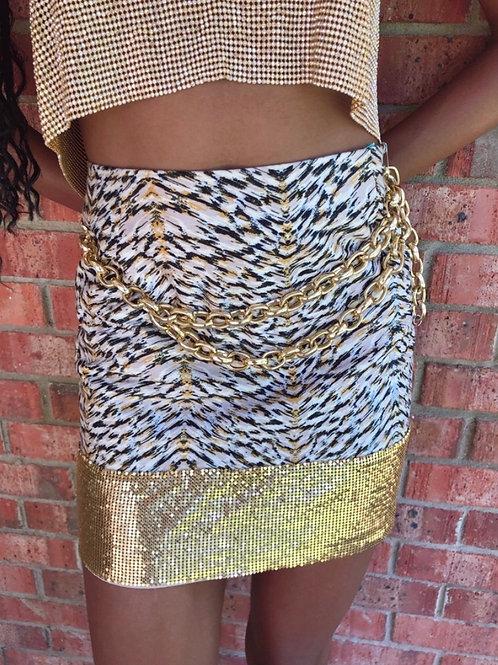 Cleopatra Metal Hem Skirt
