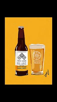 Cerveza Tres Casas Polaris