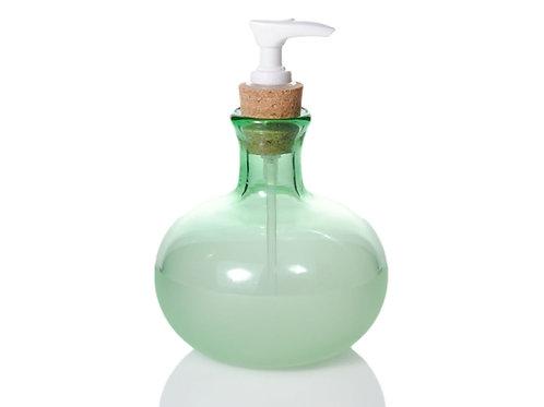 Grass Green Glass Soap Bottle