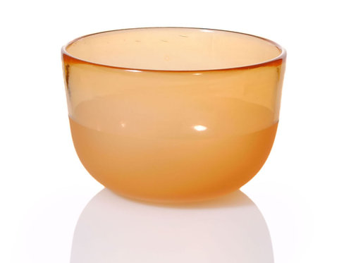 Aurora Yellow Glass Bowl