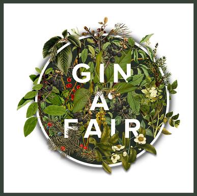GIN A' FAIR Logo mit Rahmen